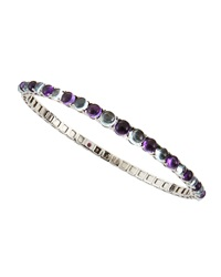 Roberto Coin 18K White Gold Amethyst And Blue Topaz Bangle