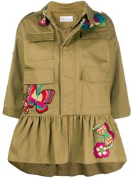 Red Valentino Embroidered Butterfly Military Jacket 60