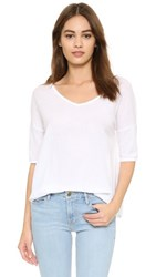 Bb Dakota Oversized V Neck Tee Optic White
