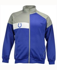 Majestic Men's Indianapolis Colts Court Track Jacket Blue Black White