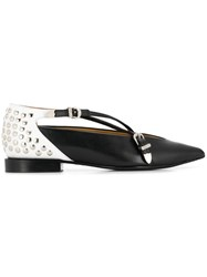 Toga Pulla Stud Embellished Slippers Black