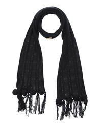 Patrizia Pepe Love Sport Accessories Oblong Scarves Women Black