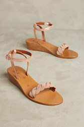 Anthropologie K. Jacques Sesame Micro Wedge Sandals Pink