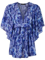 Andrea Marques Printed Tie Waist Blouse 60