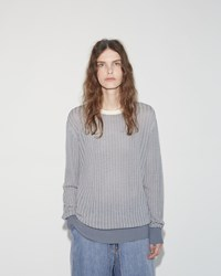 Aalto Oversized Pullover White Blue