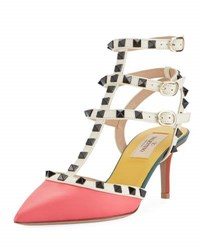 Valentino Rockstud Colorblock City Sandal Multi