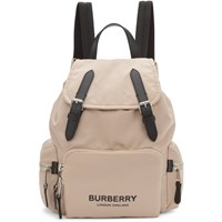 Burberry Pink Nylon Medium Rucksack