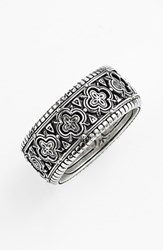 Konstantino Men's 'Classics' Clover Etched Ring