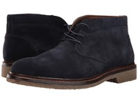Trask Colton Navy Water Resistant Suede Men's Flat Shoes