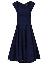 Jolie Moi Crossover Bust Ruched Prom Dress Navy