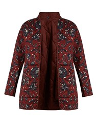 Etoile Isabel Marant Daca Reversible Quilted Cotton Coat Burgundy