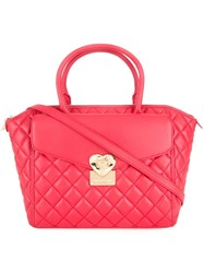 Love Moschino Quilted Tote Red