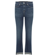 Rag And Bone 10 Inch Stove Pipe Cropped Jeans Blue