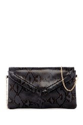 Urban Expressions Monique Snake Embossed Vegan Leather Crossbody Clutch Gray