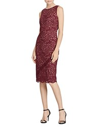 Ralph Lauren Sleeveless Lace Dress Chateau Rouge Nude