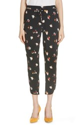 Ted Baker London Flisie Colour By Numbers Floral Print Jogger Pants Black