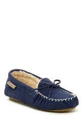 Bearpaw Ashlynn Wool And Genuine Sheepskin Lined Moccasin Blue