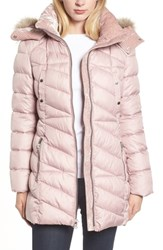 Marc New York Faux Fur Trim Puffer Jacket Shell
