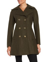 Michael Michael Kors Wool Blend Peacoat Olive