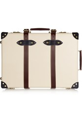 Globe Trotter The Goring 21 Leather Trimmed Fiberboard Travel Trolley Cream
