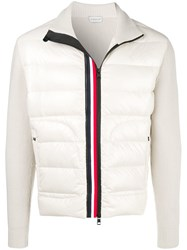 Moncler Padded Front Cardigan Nude And Neutrals