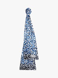 Jaeger Shadow Spot Silk Scarf Blue Multi