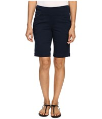 Jag Jeans Petite Ainsley Pull On Classic Fit Bermuda Bay Twill Nautical Navy Women's Shorts