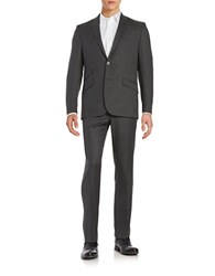 Kenneth Cole Wool Blend Two Button Jacket Charcoal