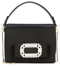 Roger Vivier Satin Handbag Black