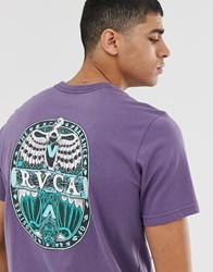Rvca Opposite Printed T Shirt In Purple
