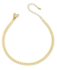 Inc International Concepts Gold Tone Chevron Chain Choker Necklace Only At Macy's