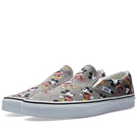 Vans X Disney Classic Slip On Mickey Mouse And Frost Grey