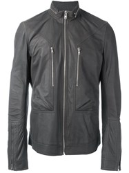 Rick Owens Zipper Collar Jacket Grey