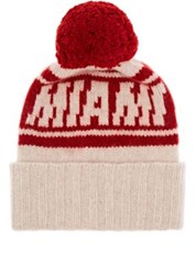 The Elder Statesman X Nba Men's Miami Heat Cashmere Pom Pom Beanie White