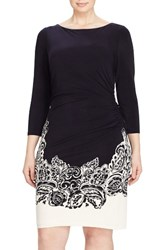 Lauren Ralph Lauren Plus Size Women's Paisley Jersey Sheath Dress