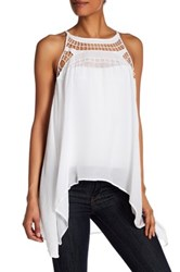 Johnny Was Draped Hi Lo Hem Tunic White