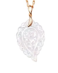 Tamara Comolli India Leaf Pendant Necklace In 18K Rose Gold