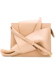 N 21 No21 Abstract Bow Shoulder Bag Nude And Neutrals