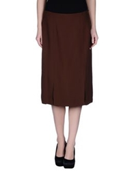Ivan Montesi Knee Length Skirts Cocoa