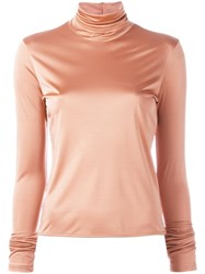 Forte Forte 'My T Shirt' Roll Neck Top Pink Purple