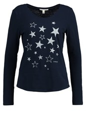 Tom Tailor Denim Long Sleeved Top Real Navy Blue Dark Blue