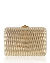 Judith Leiber Couture Fully Beaded Slimslide Clutch Bag Silver