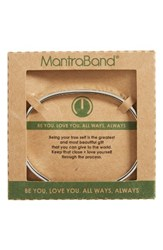 Mantraband Women's Be You Love You Engraved Cuff Silver