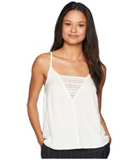 Roxy Color Spaces Woven Tank Top Marshmallow Sleeveless Blue