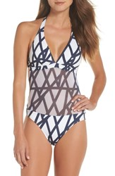 Vilebrequin Graphic Net One Piece Swimsuit Blanc