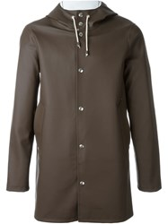 Stutterheim Hooded Coat Brown