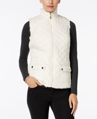 Charter Club Faux Fur Lined Puffer Vest Only At Macy's Vintage Cream