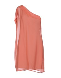 Dek'her Short Dresses Salmon Pink