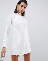 The Jetset Diaries Aster Flared Sleeve Shift Dress White