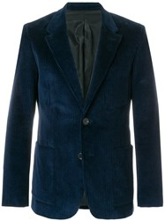 Ami Alexandre Mattiussi Half Lined Two Buttons Jacket Blue
